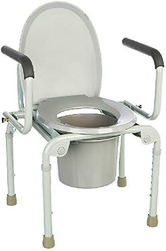 Cqq Badestuhl Abnehmbare Kommode Leichte Aluminium Bad WC Sitz Sicherheitsgurt Rad/Behinderung Mit Top Loading...