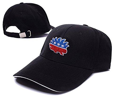 [LIFA Libertarian Porcupine Hat Embroidery Baseball Cap] (Gold Miner Costume Accessories)