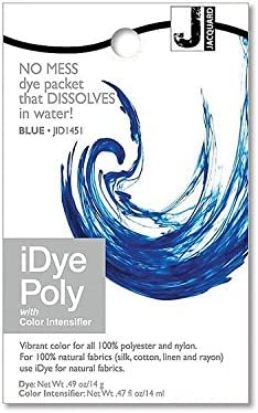 Jacquard iDye Synthetic Polyester Fiber Fabric Dye - Blue
