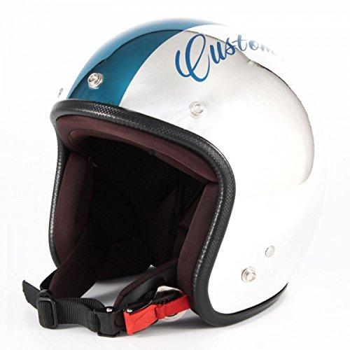HANDLE KING 72JAM ジェットヘルメット [CHROMES CM - ブルー (フリーサイズ:57-60cm)] JCP-08 ジャムテック 72ジャム B074NYWN32
