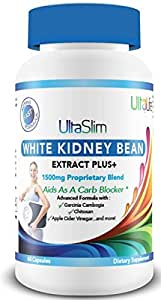 #1 BEST White Kidney Bean Extract Supplement - Diet Pill to Block Carbs & Feel Full - Thermogenic Fat Burner Boosts Metabolism - Potent Weight Loss Blend w/ Garcinia Cambogia & Apple Cider Vinegar +