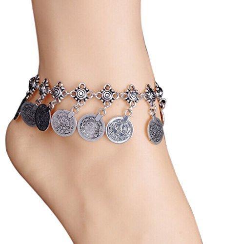 Meily® Tribal Ethnic Coin Tassel Gypsy Festival Turkish Beach Anklet