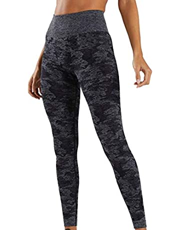 518d156655b88 Mackoo High Waisted Camo Seamless Leggings for Women Gym Capri High Elastic  Tight Yoga Pants 7