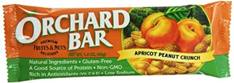 Orchard Bars Peanut Crunch Fruit and Nut Bar, Apricot, 1.4 Ounce (Pack of 12) - Bar Apricot