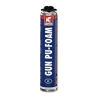 Espuma de poliuretano Gun pu-foam aerosol 750 ml Griffon: Amazon.es: Bricolaje y herramientas