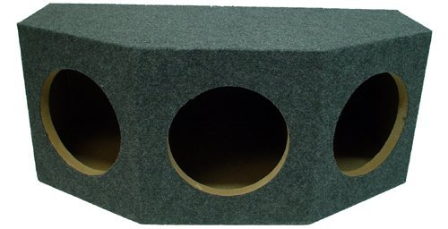 ASC Triple 12″ Subwoofer 1″ MDF Sealed Universal Fit Rearfire Sub Box Speaker Enclosure
