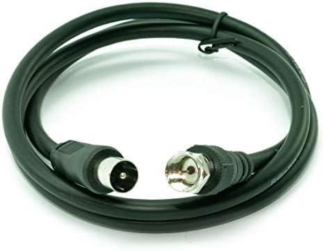CDL Micro - Cable coaxial Macho de 1 m a Conector Tipo F Macho para televisor, Color Negro: Amazon.es: Electrónica