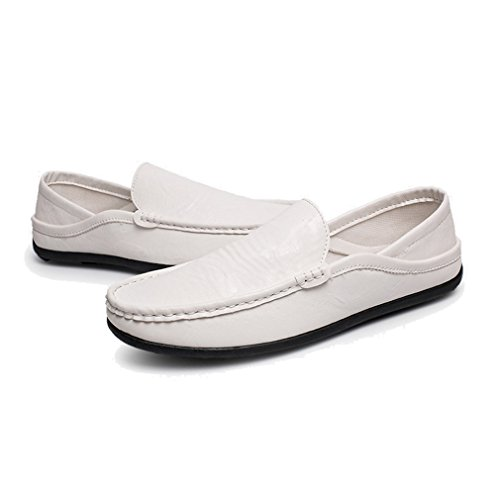 Fashion Shoes Men Non Slip Casual Shoes Sneaker Walking Loafer Round Head Men's Shoes 39-44 White pSFvYiG
