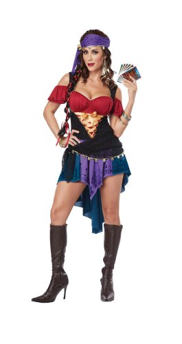 Tarot Card Gypsy Costumes (California Costumes Women's Eye Candy - Exotic Gypsy Adult, Multi, Large)