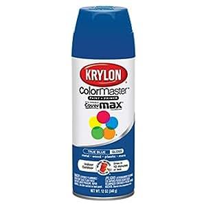 Krylon K05191007 True Blue Interior And Exterior Decorator Paint 12 Oz Aerosol