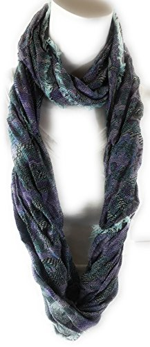 Women's Designer Stylish Fashion Infinity Loop Scarf Circle Twist Cowl Luxuriously Soft Scarves (Lavender (India Scarf)