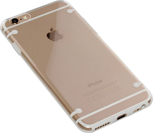 "nandu™ iPhone 6 / 6S Hülle ""Ultra-Slim"" - transparentes Hard Case mit weißem Rand"