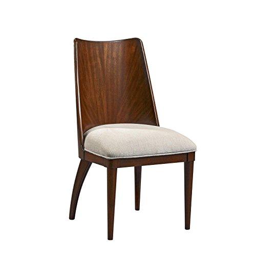 Dining Side Chair in Walnut Finish by Bassett Mirror Company