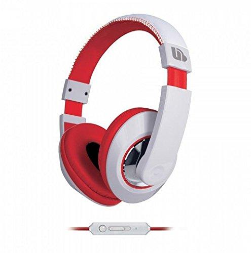 Urban Beatz Tempo Headphones with In-line Mic - White/Red (M-HM705)