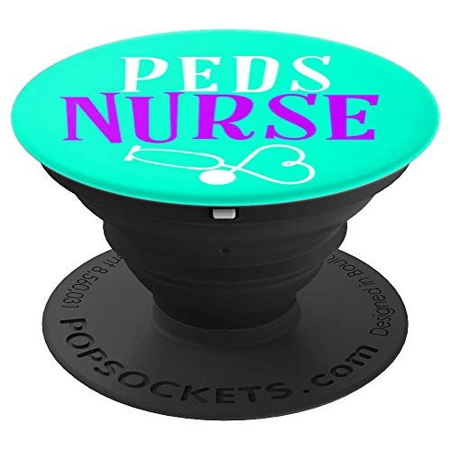 Peds Pediatrics Rn Nurse Stethoscope Blue Purple And White - PopSockets Grip and Stand for Phones and Tablets