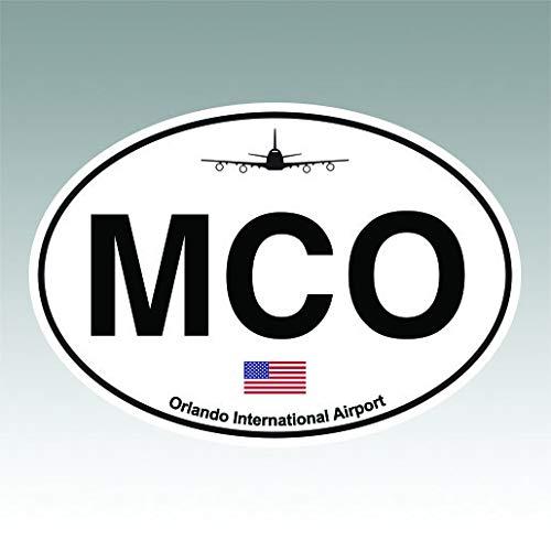 RDW Orlando Airport Euro Oval Sticker Premium Decal Die Cut MCO ()