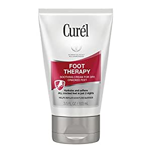 Curél Foot Therapy Cream, Soothing Cream for Dry & Cracked Feet, 3.5 Ounces