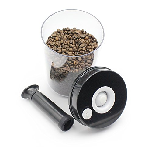 BENSE Coffee Vacuum Container Best Glass Storage Canister For Mixed Nuts, Cookies, Candies, Beans Or Chips.