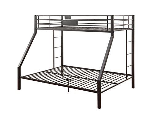5c5061aae5b1 Amazon.com  ACME Limbra Black Sand Twin XL over Queen Bunk Bed ...