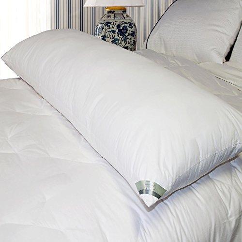 Kathy Ireland Home Essentials 233 Thread Count Cotton Down Alternative Body Pillow, White ()