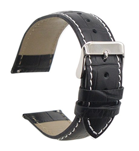 ArtStyle Quick Release Leather Watch Band Cowhide Leather Replacement Watch Strap