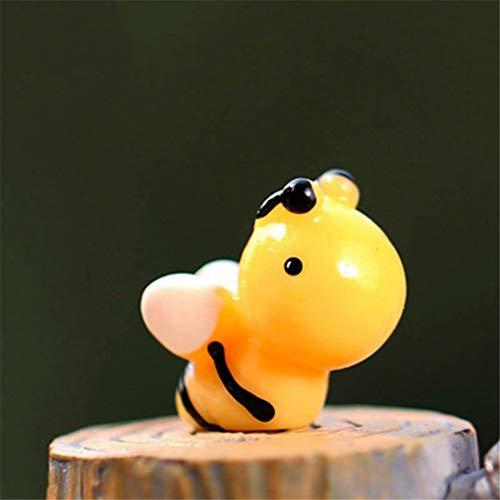 4 Piece Bee Honeybee Worker Flyer Flower Garden Cute Insect Decoration Model Samll Statue Figurine Ornament Miniatures 4 pieces -