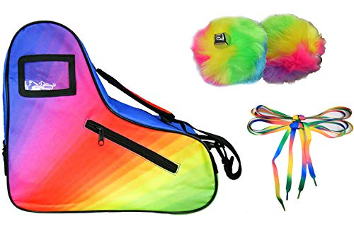 Edition Skate - Epic Limited Edition Rainbow Roller Skate Accessory 3 Pc. Bundle