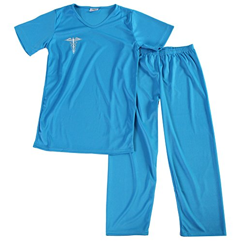 (Blue Kids Medical Scrubs Costume, Size)