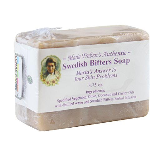 Maria Treben'S Authentic Handcrafted Swedish Bitters Soap Natural for Brighter better skin (3.75oz Bar)