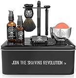 Luxury Safety Razor Shaving Kit - Includes Double Edge Safety Razor,...