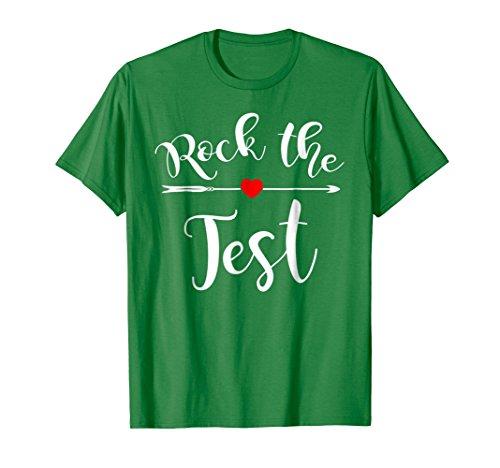 (Rock The Test T-Shirt Funny School Professor Teacher)