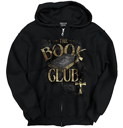 Bible Book Club Shirt Jesus Christ Savior God Faith Hope Gift Zipper Hoodie (Zip Faith Hoodie)