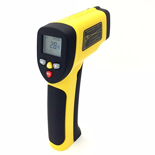 PerfectPrime TM0819, Accurate Digital Surface Temperature Non-contact Infrared IR Thermometer Dual Laser Pointer Gun -50~1050°C/1922°F ()