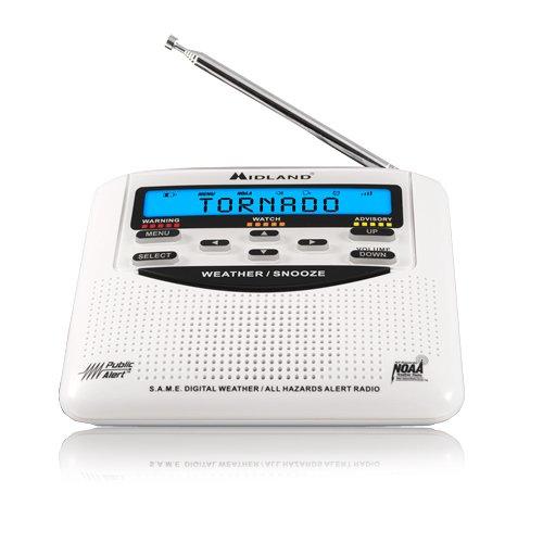 Table Top Weather Radio, White