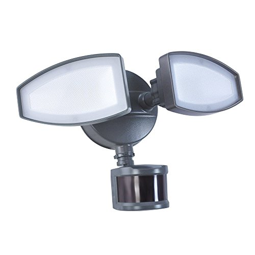 Good Earth Lighting Dusk to Dawn LED Motion Activated Security Flood (Polycarbonate Diffuser Cast)
