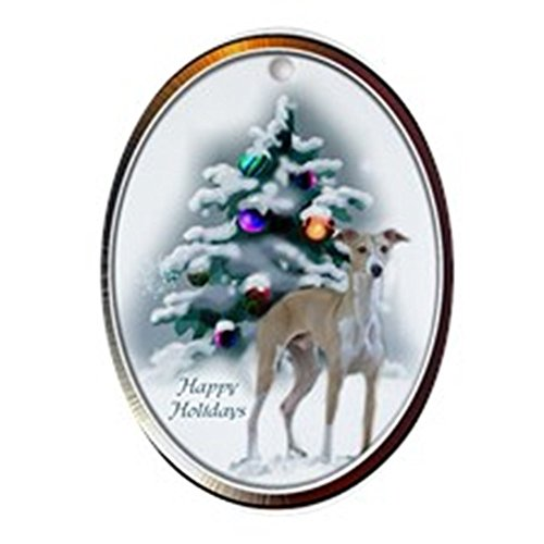 CafePress Italian Greyhound Ornament (Oval) Oval Holiday Christmas Ornament ()
