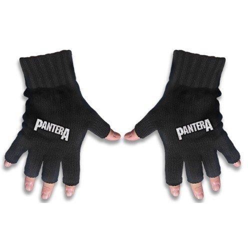 Price comparison product image Pantera Fingerless Gloves: Logo - Black