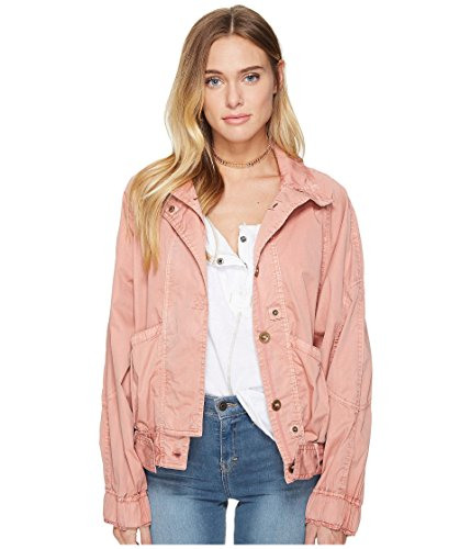 Free People Women's Parachute Jacket Light Red Small