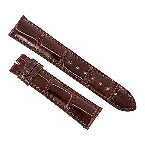 Hadley Roma 21 MM Shiny Mink Brown Alligator Leather Strap ()