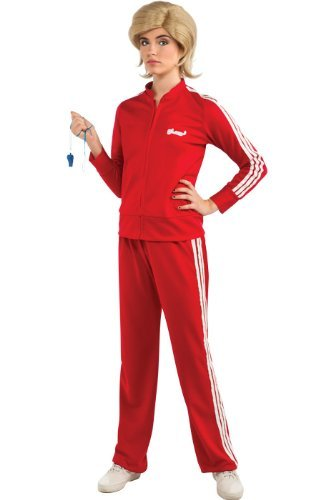 Glee Sue's Red Track Suit Adult Costume, Standard Color, Standard