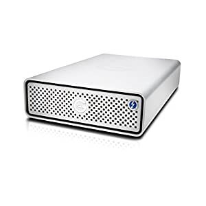 G-Technology G-Drive with Thunderbolt 3 10TB Desktop Hard Drive TB3/USB-C (2x Thunderbolt 3, USB3.0 Type-C) (0G05378) Plus 60 Watt 6 Port Intelligent Auto Detect Technology USB Desktop Rapid Charger.