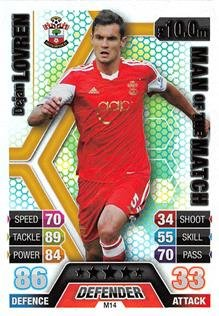 Match Attax Extra 2013/2014 Dejan Lovren Man Of The Match 13/14