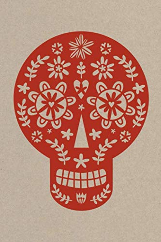 Notes: A Blank Guitar Tab Music Notebook with Red Papercut Sugar Skull Cover Art