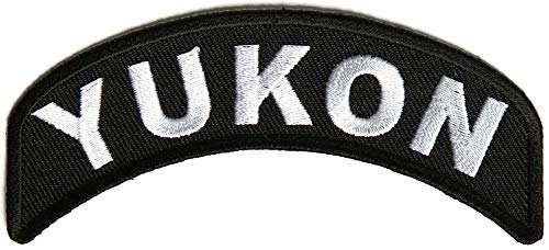 Yukon State Patch - Iron on Patch - 4x1.75 inch ()