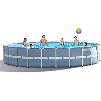 Amazon.com : INTEX 24ft X 52in Prism Frame Pool Set with Filter Pump ...