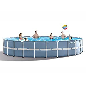 Intex 24ft X 52in Prism Frame Pool Set with Filter Pump, Ladder, Ground Cloth & Pool Cover