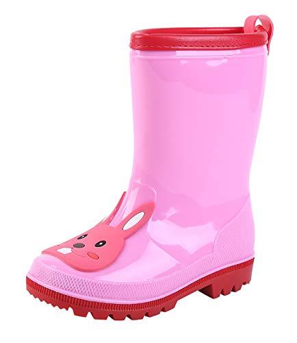 DAWNTUNG Kids Waterproof Anti-skid Rain Boots Cartoon Animal Pattern Rain Shoes