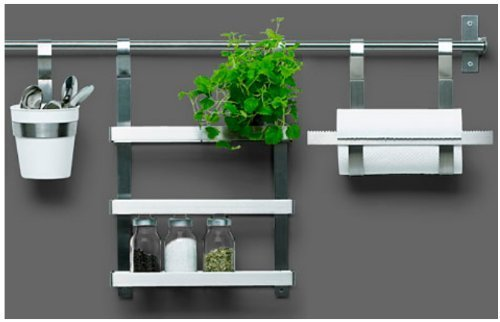 Ikea Stainless Steel Rail 302.020.92, 23.25-inch