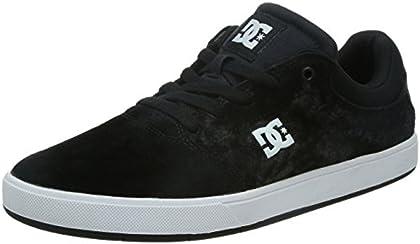 DC Men's Crisis Skate Shoe, Black/White, 9 M US