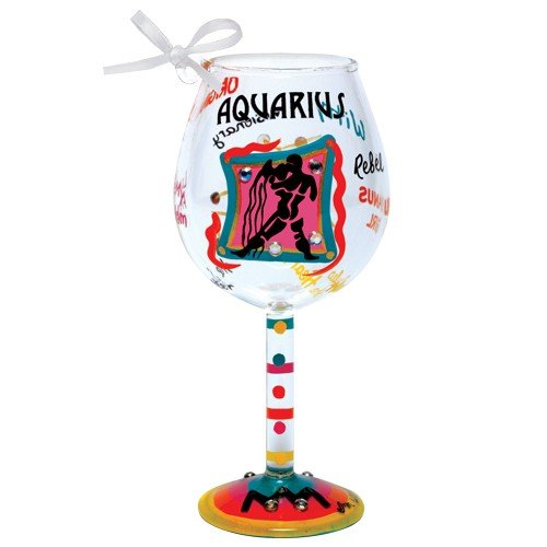 Santa Barbara Design Studio Lolita Holiday Mini-Wine Ornament, Aquarius (Ornament Wine Glass Lolita)